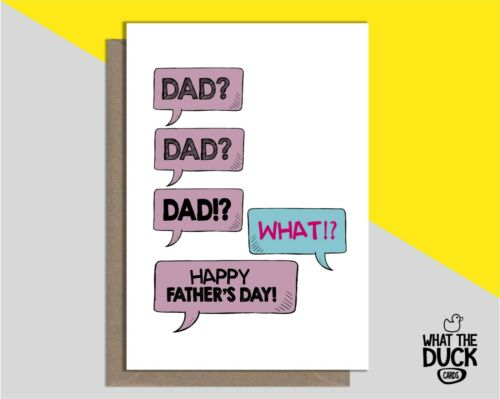 Drôle /& Rude Handmade Pères Jour Carte de vœux pour Papa Daddy étape de Kids