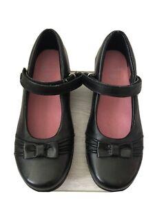 New Clarks Daisy Talk Jnr Black Leather