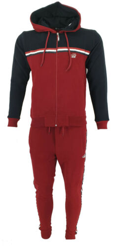 Mens Time is Money Full Tracksuit Hooded Jogging Bottms Joggers Casual Sports