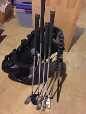 Jr Set Of 5 Graphite Shaft Golf Clubs With Bag And Stand