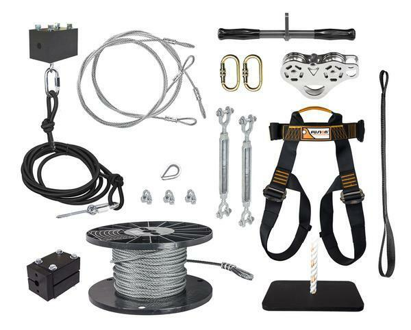 New Ziplinegear 350' Ultimate Ultimate Ultimate Torpedo Zip Line Kit with Trolley Stainless Steel 9946fa