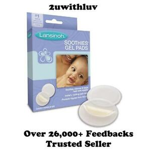 LANSINOH-SOOTHIES-GEL-PADS-FOR-SORE-PAINFUL-NIPPLES-2-REUSABLE-PADS