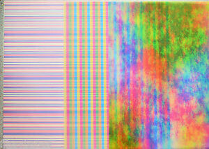 2-xA4-Sheets-Abstract-Rainbow-Candy-Stripe-Pink-amp-Blue-stripe-Vellum-112gsm-NEW