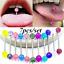 7pcs-Multi-Colors-Tongue-Tounge-Ear-Ring-Bar-Barbell-Body-Piercing-Jewelry thumbnail 1