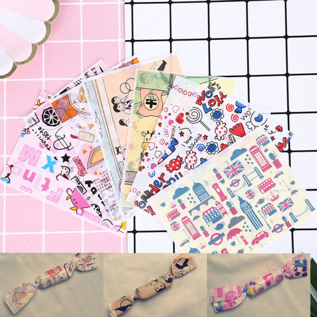 50pcs Christmas Waterproof Food Wrapping Paper Wax Paper Candy Cookie Paper