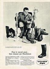 PUBLICITE ADVERTISING   1961   AIGLE HUTCHINSON  bottes pour le travail