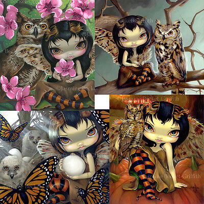 Jasmine Becket-Griffith SIGNED Owlyn in Autumn Spring & Nest set of 4 art prints