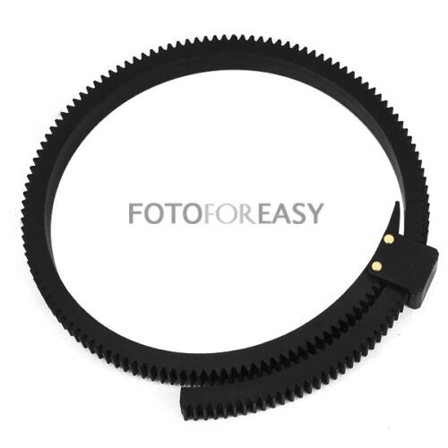 réglable Flexible Follow Focus entraînement Driven anneau ceinture DSLR lentille