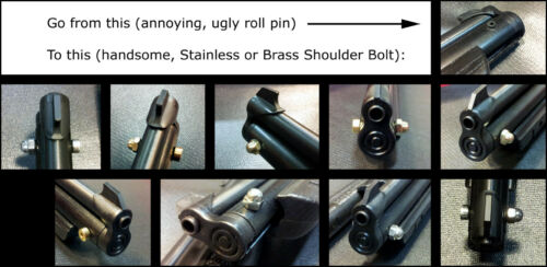 Crosman 1377 1322 2289 Roll Pivot Pin Upgrade to Stainless Steel or Brass Bolt