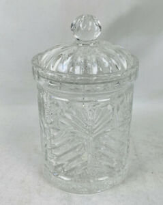 7-Tall-Fifth-Avenue-Crystal-Glass-Portico-Candy-Jar-Dish-w-Lid