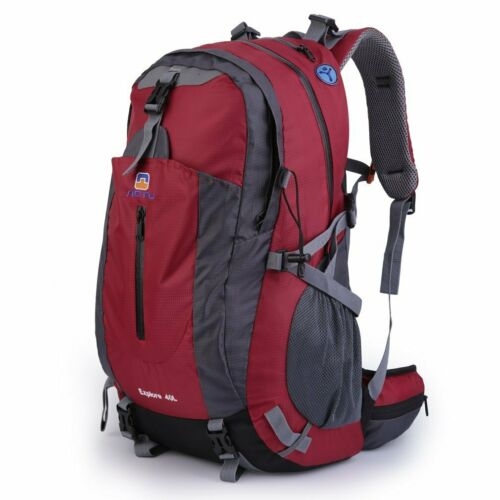 40L Large Mens Womens Waterproof Backpack Rucksack Hiking Camping School Bag UK