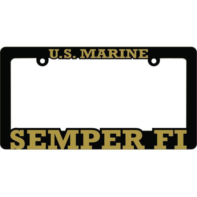 US Marine Corps Semper Fi License Plate Frame Black | eBay