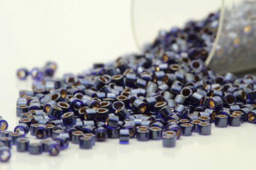 Miyuki 11//0 Delicas Inside Dyed Dk.Navy Seed Beads DB-278