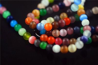 New Round Colors Glass Cat's Eye Millefiori Jewelry Loose Beads Spacer 6 8 10mm