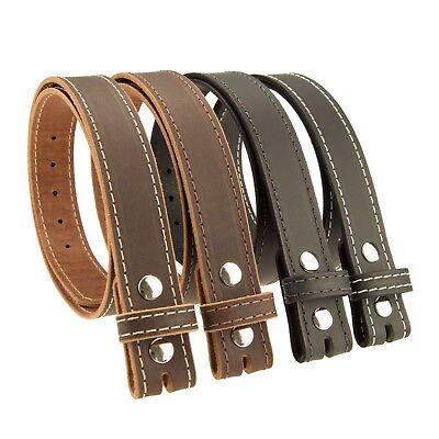 "Men/'s/_BUFFALO LEATHER BELT Strap/_No Buckle/_1-1//4/""/_Vintage Brown Amish Handmade"