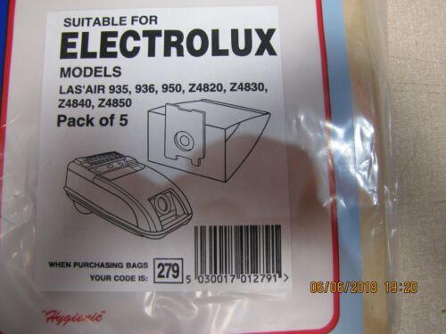 Per Electrolux 279 Cilindro Sacchetti Per Aspirapolvere 935 936 950 Z4820 40 50 pk5