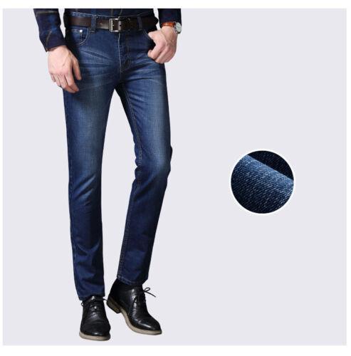 Men/'s Casual Slim Fit Straight Leg Washed Denim Jean Pants Jeans long Trousers