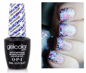 Image Is Loading Opi Gelcolor Polka Com Blue Purple Glitter Uv
