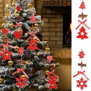 Addobbi Natalizi Legno.Addobbo Natalizio Legno Decorazione Pallina Albero Natale Camino Finestra Casa Ebay