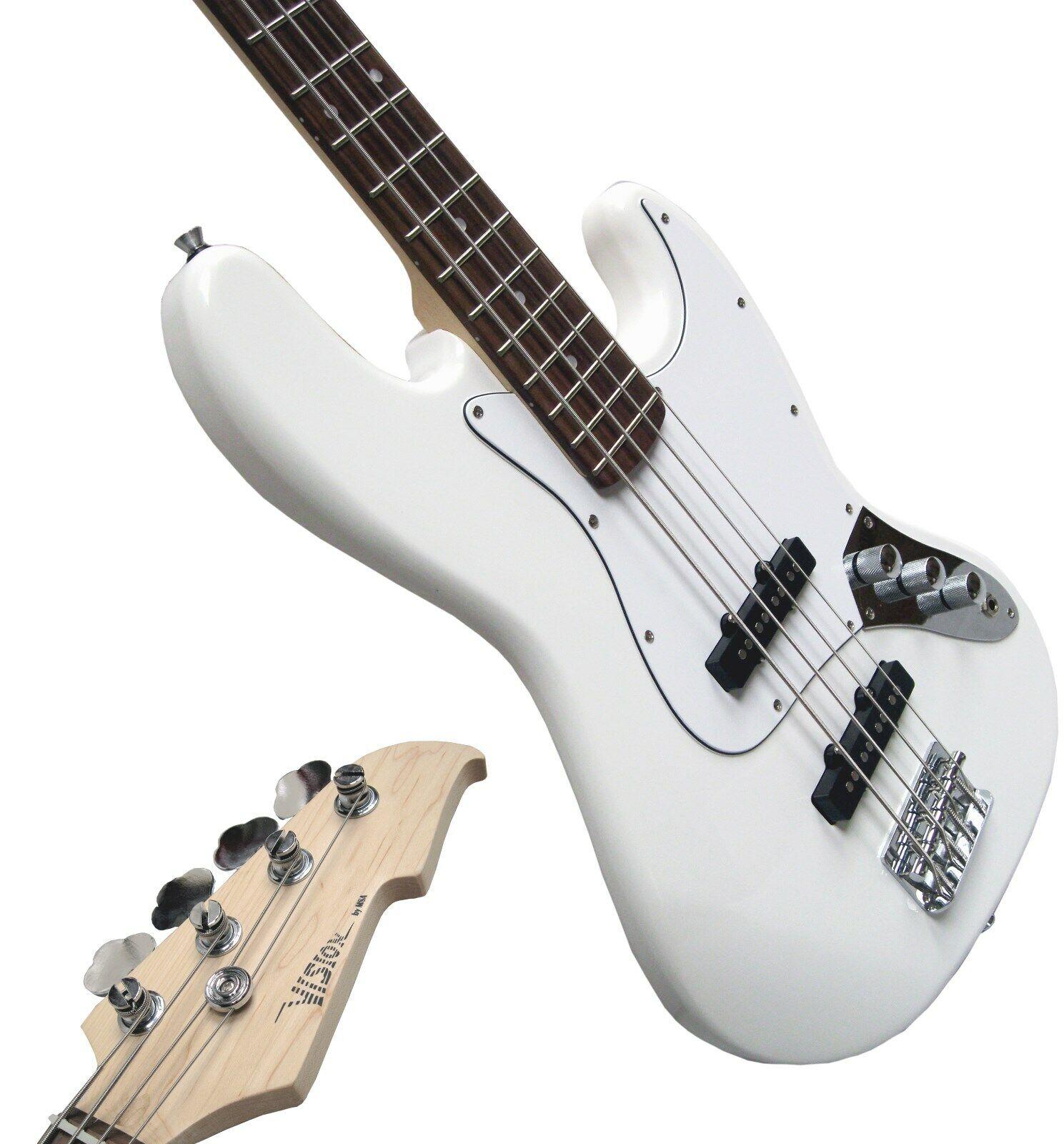 E-Bass, JBS-W in weiß, mit Anschlußkabel  n