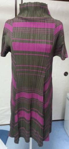 Marrón Púrpura op pliegues por favor Issey Miyake Muy Buena   increíbles descuentos