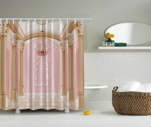 glamour fancy palace chandelier graphic shower curtain royal columns