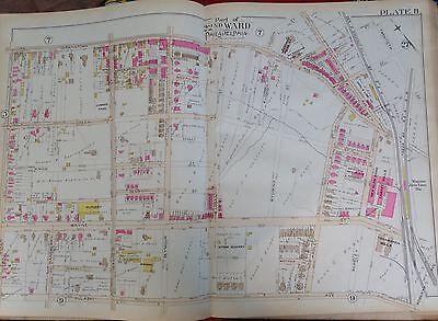 1889 GERMANTOWN WAYNE JUNCTION STATION PHILADELPHIA PA GW BROMLEY COPY  ATLAS MAP | eBay