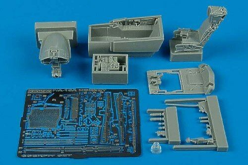 Aires 1//48 F//A-18A Hornet cockpit set for Hobby Boss kit # 4371