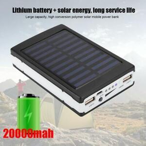 20000MAH dual usb con LED Banco de Energía Cargador Solar...