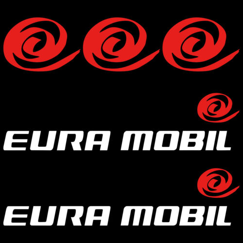 Eura Mobil XL sticker decal camper caravan 5 Pieces
