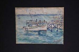 Irene-D-Fowler-American-Artist-Watercolor-Signed-Titled-Dated-San-Diego-1929