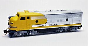 AT-amp-SF-Santa-Fe-Yellowbonnet-F7A-Diesel-Locomotive-341-MTL-980-01-280-Z-Scale