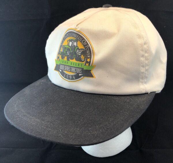 3ae7108d6 Vtg John Deere Tractor Hat Snapback Cap 8000 Series Farm Equipment Farmer  1994
