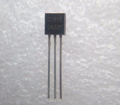 boitier TO-92 50V 0.15A Transistor C1815 ou 2SC1815 polarité NPN C13.2