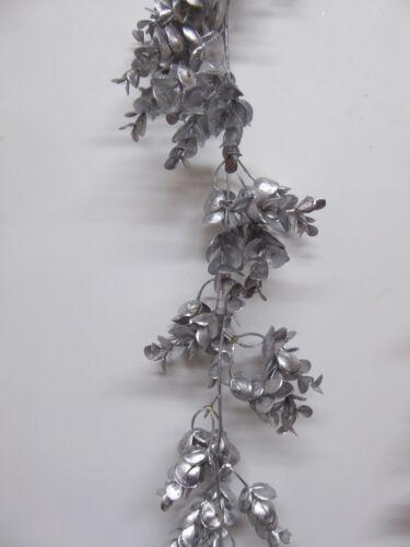 180cm 6ft Artificial Metallic Eucalyptus Garland Christmas Decoration 4 Colours