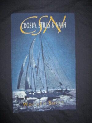 2000 Crosby Stills Nash Young Wooden Ships Concert Tour Xl T Shirt Csny Ebay