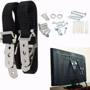 2Pcs Anti Tip Secure TV Furniture Fix Safety Anchor Straps Baby Child Proofing