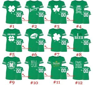 7b778172a8dec St Patty Women Jersey Shirts Name Number on Back Customized St ...