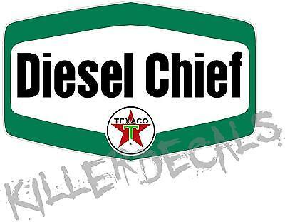 "TEXA-D-6 12/"" TEXACO RED DIESEL CHIEF FUEL GASOLINE GAS PUMP OIL TANK DECAL"