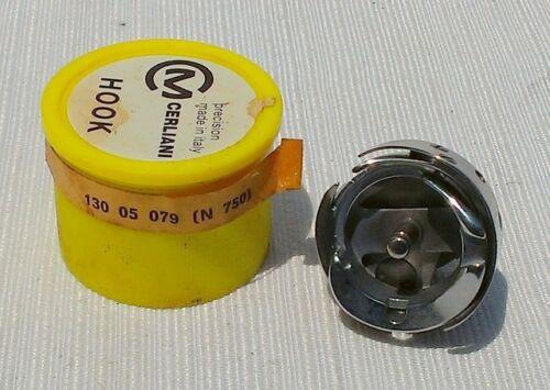130-05-079 Genuine Cerliani Full Gib HOOK FOR Necchi 750 752 Yellow Box NEW