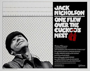 One Flew Over The Cuckoo/'s Nest Movie Film Metal Sign Advertisement wall a4