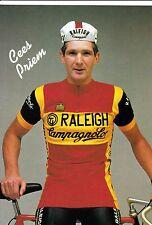 CYCLISME carte  cycliste CEES PRIEM équipe TI RALEIGH 1982