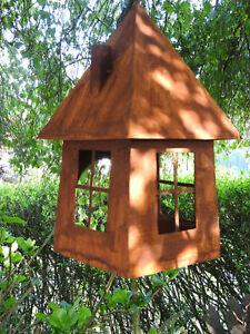Nobile Ruggine aviario Vento Luce Decorazione Giardino laccio Casa Uccelli Mangiatoia  </span>