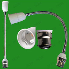 500mm Bayonet To Screw Flexible Lamp Holder, Orientational Light Bulb Extension