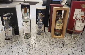 Empty-whisky-bottles