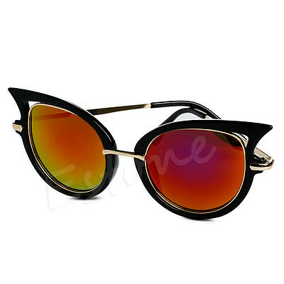 Retro Women's Sunglasses Metal Frame Golden Leg Cat Eye Shades Eyeglasses