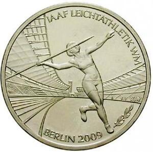 10 Euro Gedenkmünze Iaaf Leichtathletik Wm Berlin 2009 D München