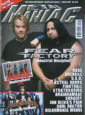METAL MANIAC 2 2010 Fear Factory Rage Finntroll Overkill Helloween Necrodeath