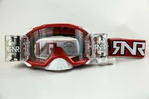RIP N ROLL RNR PLATINUM WVS 48MM ROLL OFF GOGGLES RED MOTOCROSS MX ENDURO CHEAP