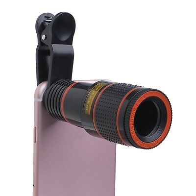 Clip-on 8x Optical Zoom HD Telescope Camera Lens For Universal Mobile Phone XXF